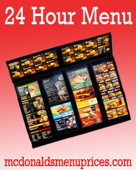 24 hour menu